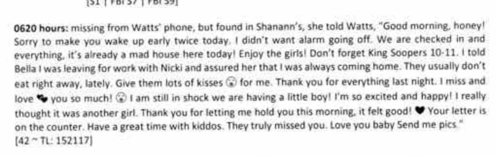 Shanann Watts Letter to Chris Watts Revealed - CrimeLights