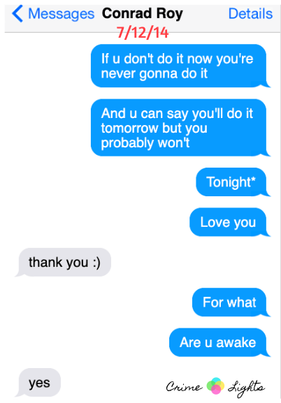 michelle carter texts to friends Archives - CrimeLights